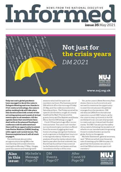 NUJ Informed May 2021 cover