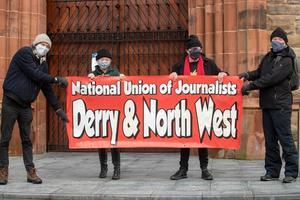 Derry Stand up for Journalism protest