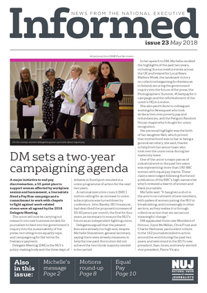 NUJ Informed, Issue 23, May 2018