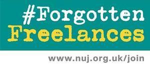 #ForgottenFreelances logo (green)
