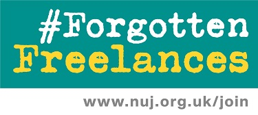 Image: #ForgottenFreelances logo (green)