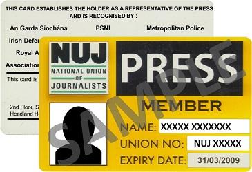Irish press card
