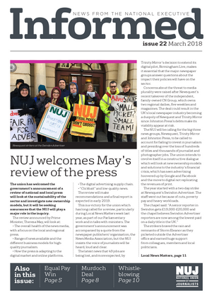 NUJ Informed, Issue 22, March 2018