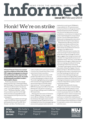 NUJ Informed, Issue 26, February 2019