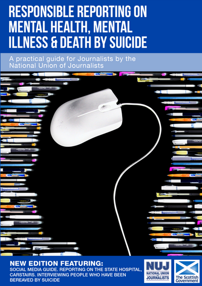 Responsible reporting on mental health, mental illness & death by suicide cover