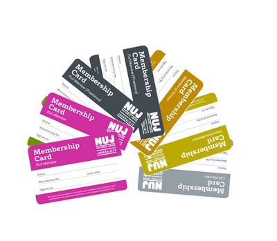 NUJ membership cards