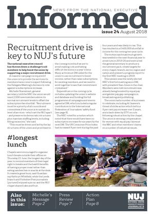 NUJ Informed, Issue 24, August 2018