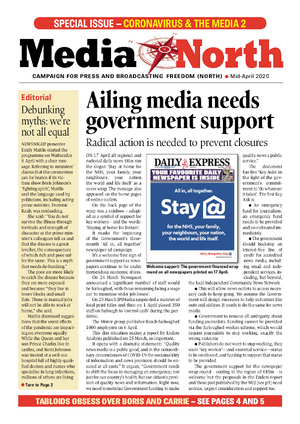COVER: Media North: Coronvavirus & the Media 2