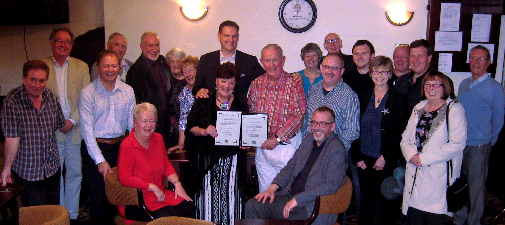 Tony & Linda Colling awarded with NUJ life membership