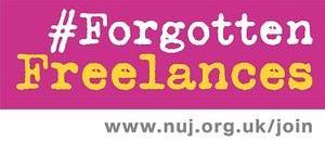 #ForgottenFreelances logo (pink)