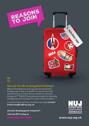 Holiday pay campaign leaflet