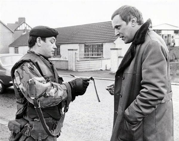 David Lorimer reporting from one of The Green Howards tours of duty in Northern Ireland in 1975