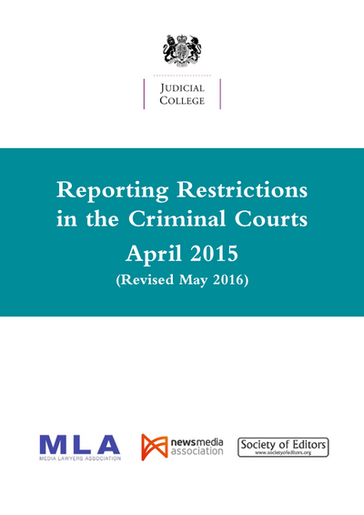 Reporting Restrctions in the Crimimal Courts cover