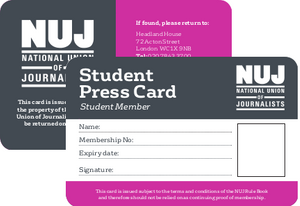 Student press card