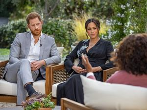 Oprah Winfrey with Meghan and Prince Harry