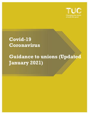 Coronavirus TUC guide (January 2021)
