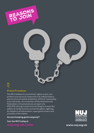 Press freedom handcuffs